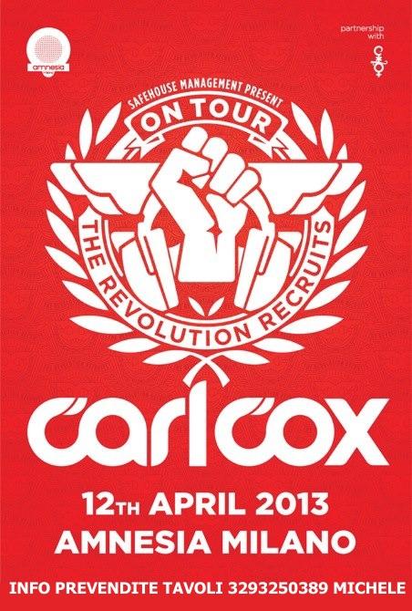 CARL COX AMNESIA 12 APRILE 2013