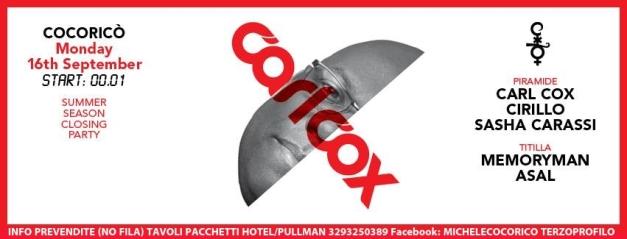 COCORICO CARL COX 16 09 2013