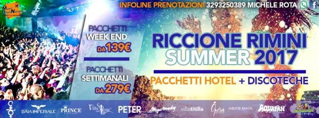 vacanze riccione rimini estate 2017 pacchetti hotel + discoteche