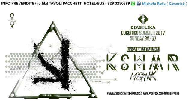 KSHMR COCORICO 30 luglio 2017 ticket prevendite pacchetti hotel