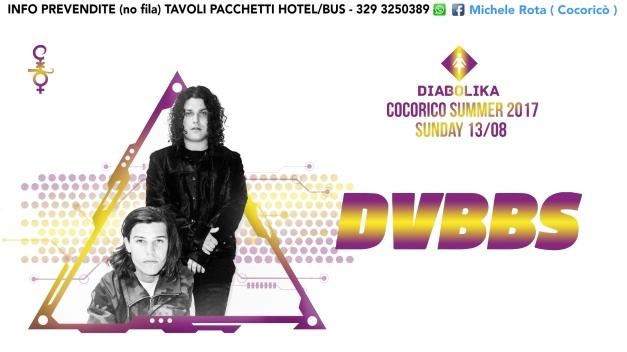dvbbs cocorico 13 agosto 2017 ticket tavoli pacchetti hotel