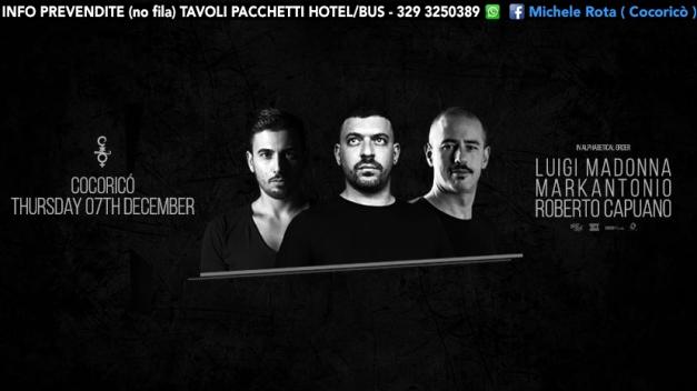 cocorico 07 12 2017 luigi madonna markantonio ticket tavoli pacchetti hotel