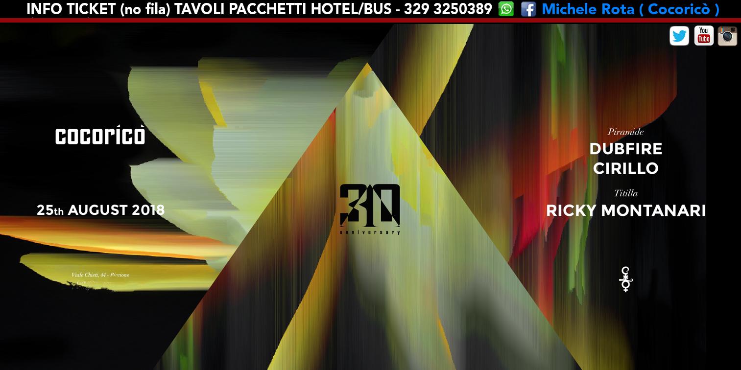 dubfire cocorico 25 agosto 2018 ticket tavoli pacchetti hotel