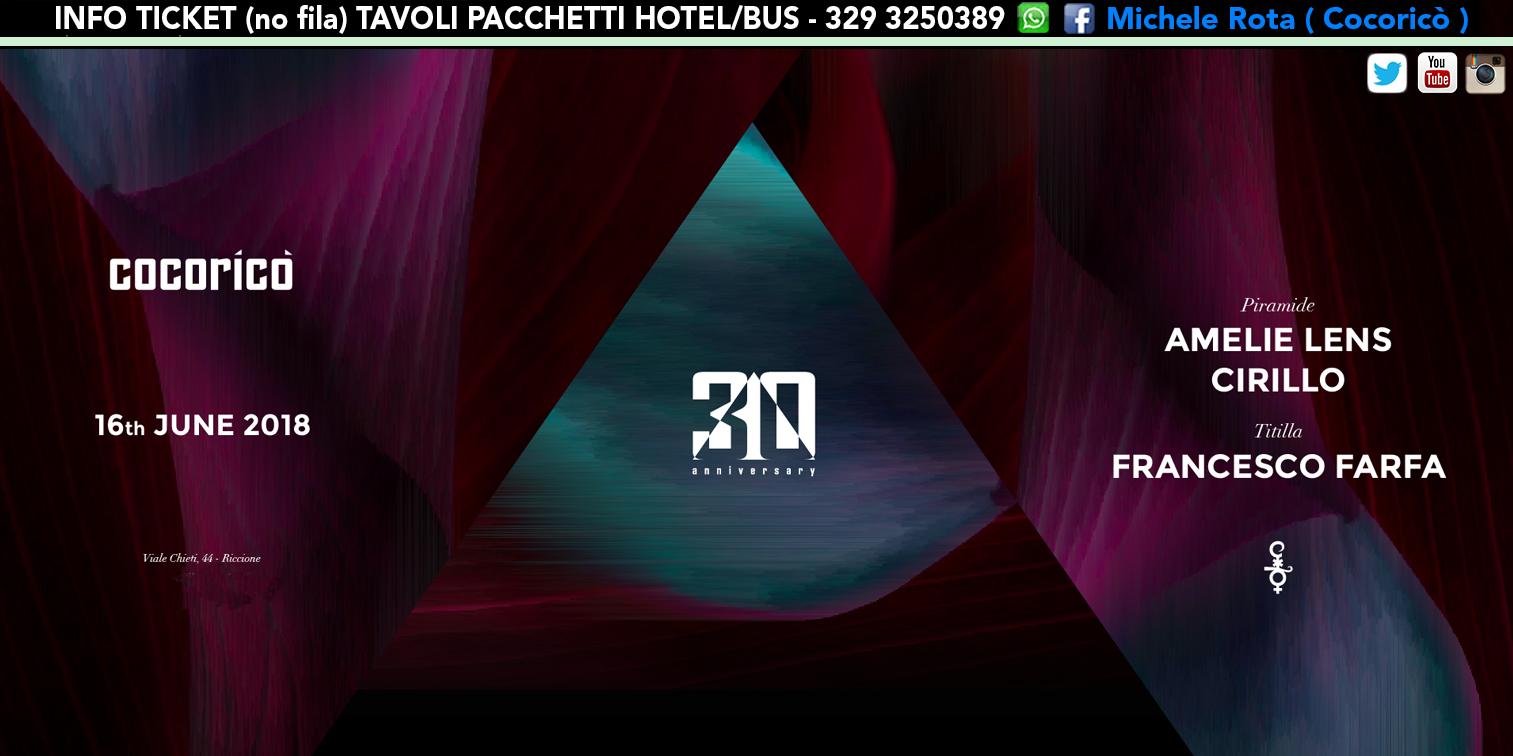 amelie lens cocorico 16 giugno 2018 ticket tavoli pacchetti hotel