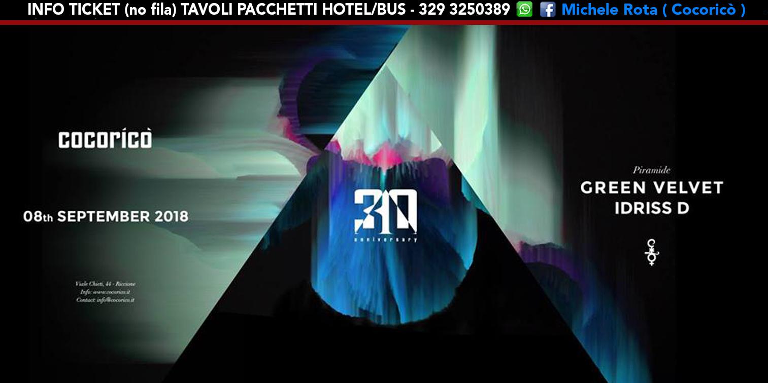 green velvet cocorico 08 settembre 2018 ticket tavoli pacchetti hotel1
