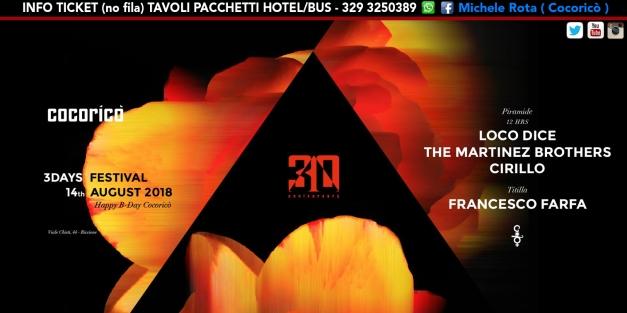 loco dice the martinez brothers cocorico 14 agosto 2018 ticket tavoli pacchetti hotel