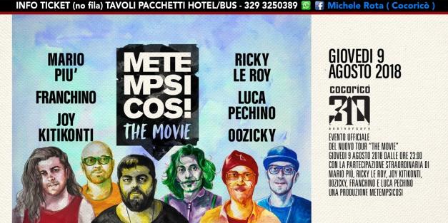 metempsicosi cocorico 09 Agosto 2018 Ticket pacchetti.jpg